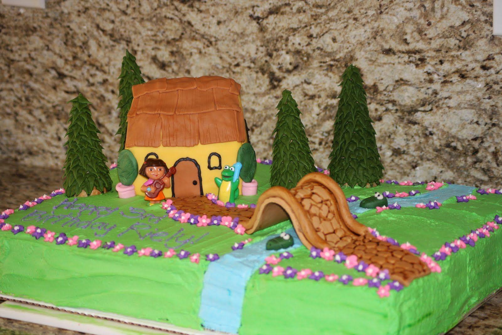 Enjoyable Dora Cake Google Search Dora The Explorer Birthday Cake Personalised Birthday Cards Xaembasilily Jamesorg