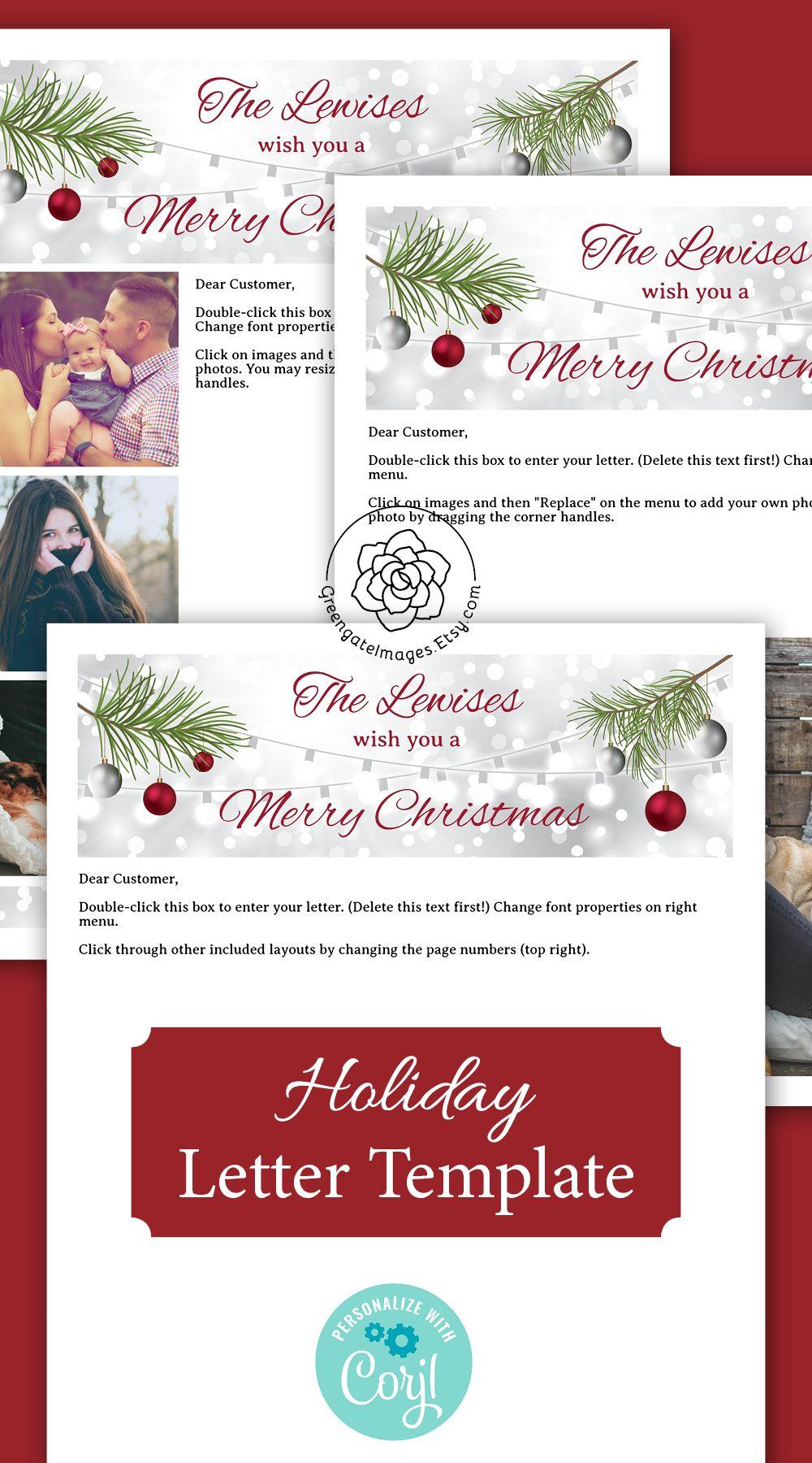 christmasletter christmaslettertemplate lettertemplate