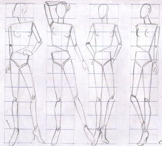 Figura Humana Figurin Estilizado Figurines De Moda Silueta De Mujer Dibujo Figuras Humanas