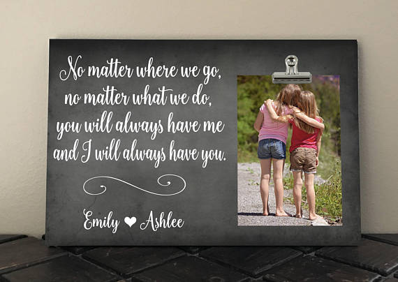 Friends Picture FrameHolder of handcrafted painted wood sign custom gift personalized wall teenager vacation shower birthday distressed