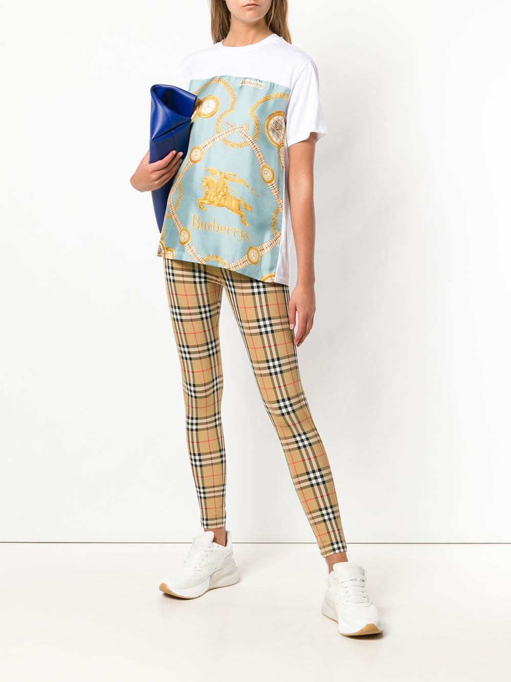 fc8dff3cb700 Burberry Archive Scarf Print Oversized T-shirt in 2018