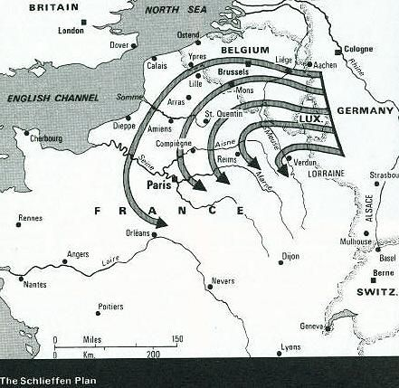 a history of the schlieffen plan by germany in world war i The schlieffen plan was germany's tactical solution for avoiding a two-front war with france and russia 2 under this plan, drawn up in 1905, france would be forced to a quick surrender by a german invasion in the north.