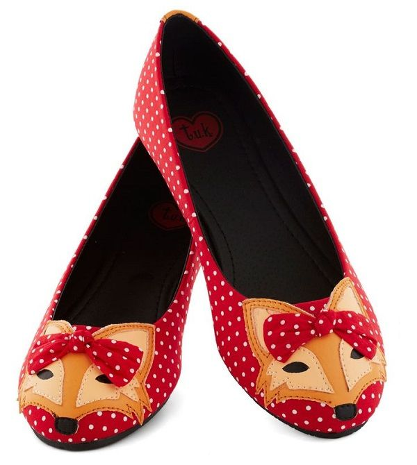 2fd7666153c71 Fashion Friday: Funky Flats | hygge cozy lifestyle. | Fox shoes, Red ...