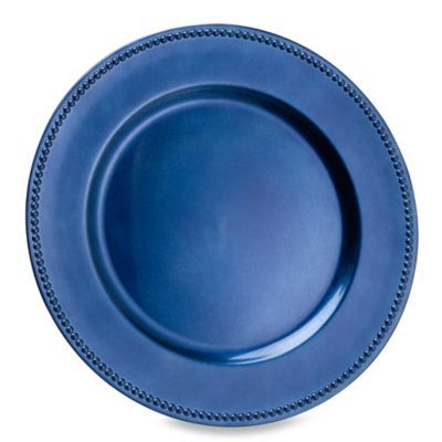 Buy Beaded Charger Plates Set Of 6 Blue From Bed Bath Beyond Charger Plates Plates Charger Plates Diy