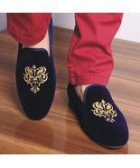 Handmade mens bachelor velvet slippers