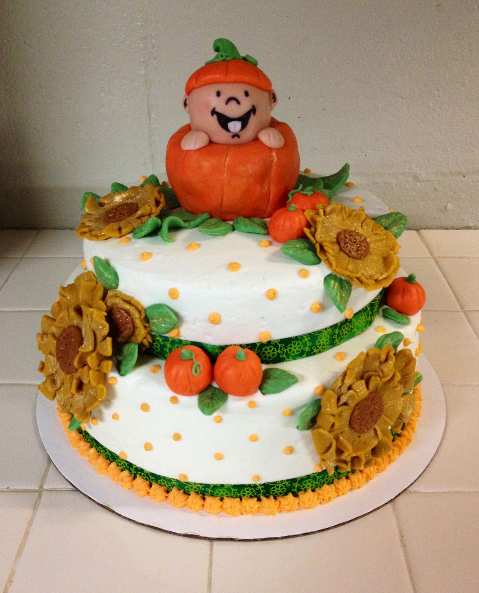 Fall Baby Shower Cake With Images Fall Baby Shower Cake Baby