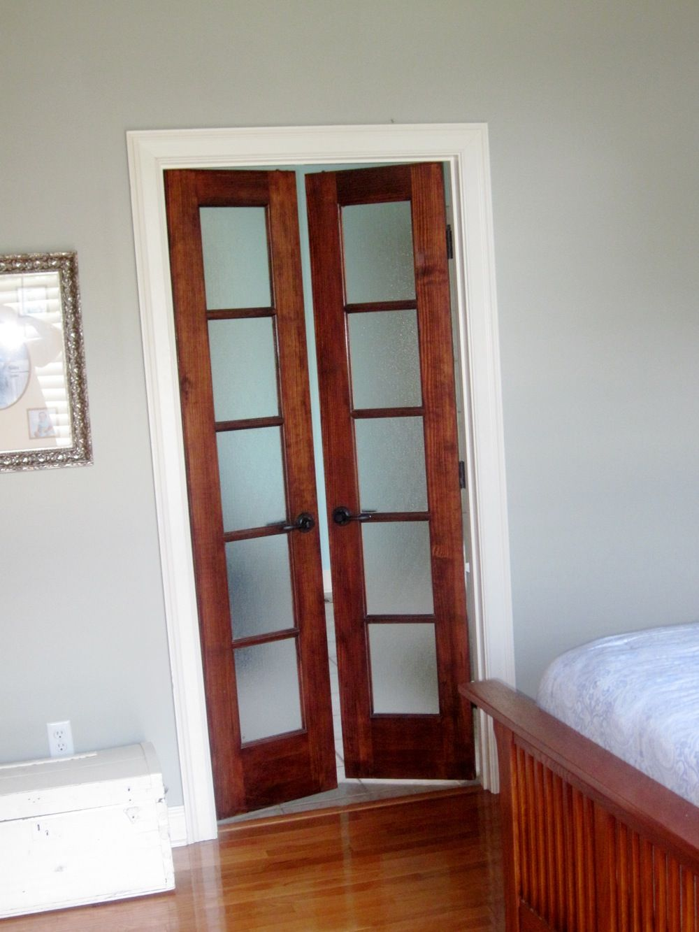 bedroom doors with frosted glass  house ideas  Bedroom