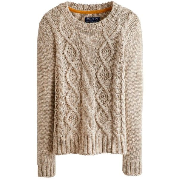 d9baae634544 Oatmeal Marl Avelyn Womens Round Neck Cable Knit Jumper