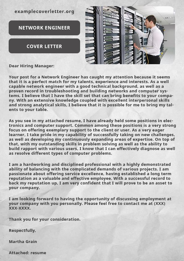 Most of the candidates want to write their network engineer cover most of the candidates want to write their network engineer cover letter themselves to spent long spiritdancerdesigns Image collections