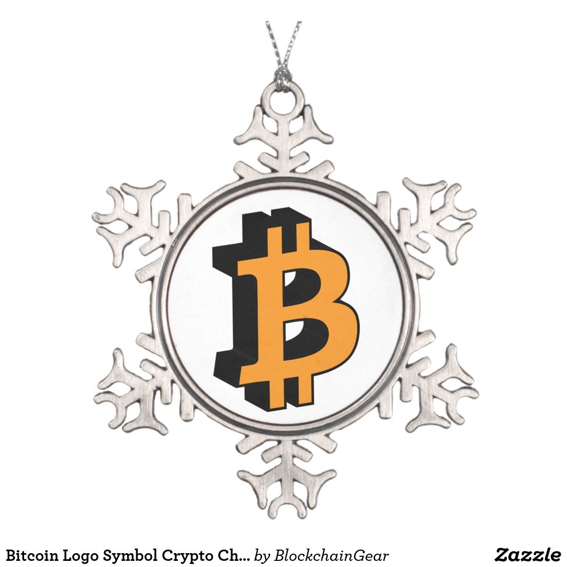 Bitcoin Logo Symbol Crypto Christmas Snow Ornament Pinterest