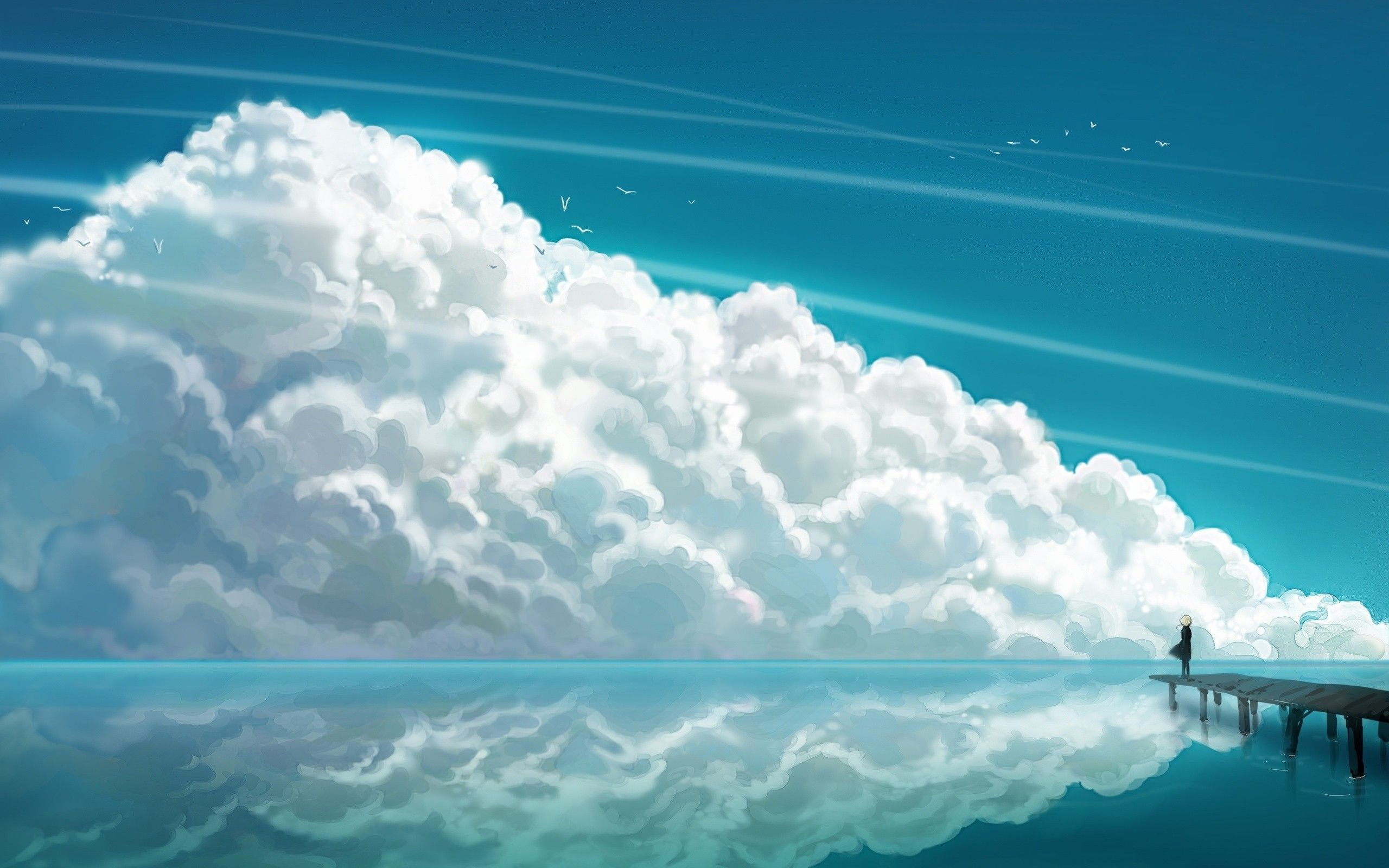 Anime Clouds Wallpaper Anime Sky Wall Anime Scenery Wallpaper Clouds Scenery Wallpaper