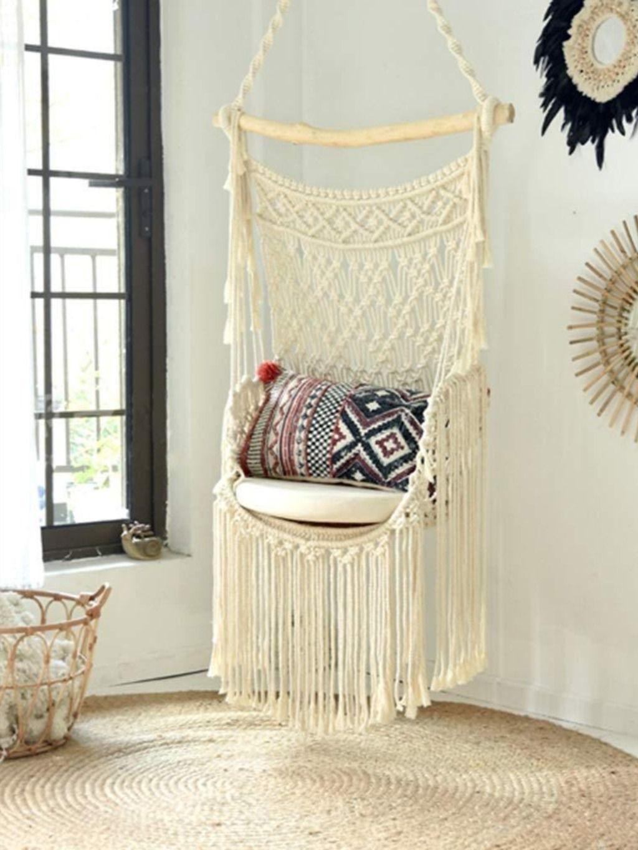 FQCD Bohemian Macrame Hammock Chair Swing in 2020 ...
