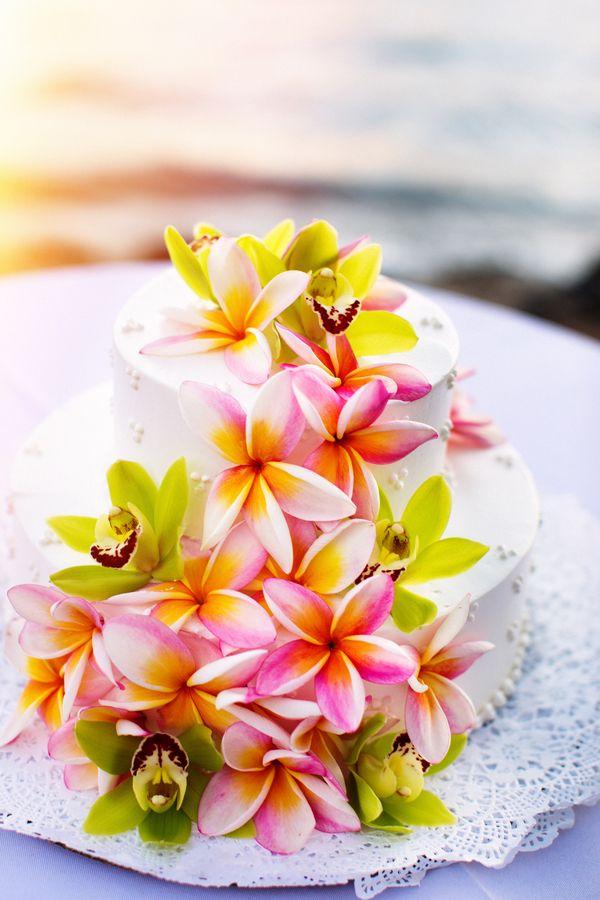 Image result for hawaii wedding cakes Hawaii Wedding Pinterest