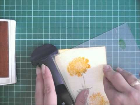 T.C.I.F. Field Flowers Water Colouring look with Dye Inks.wmv
