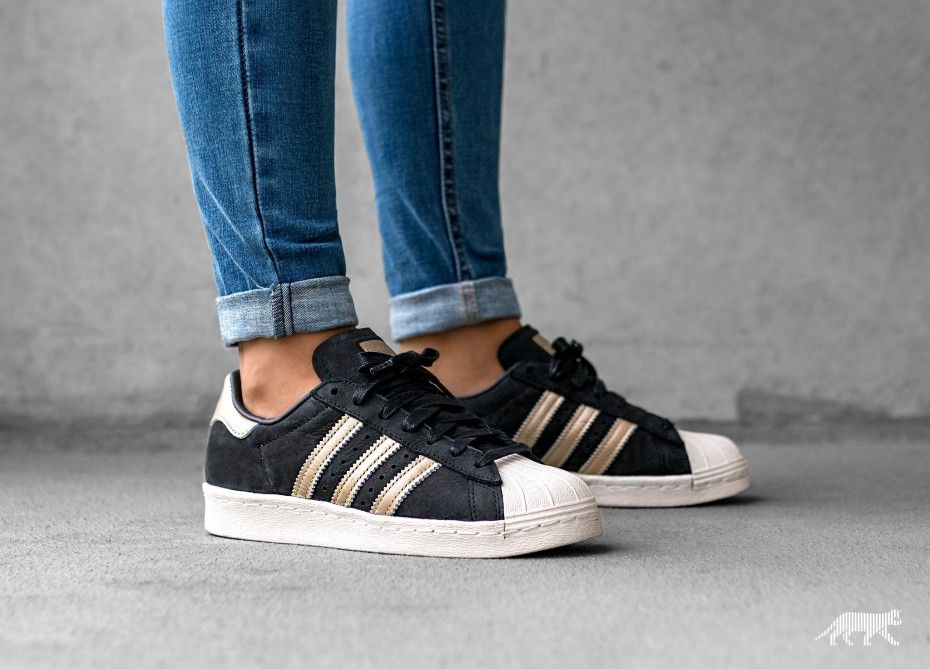 san francisco 5203b d7209 adidas Superstar 80s 999 W (Core Black  Supplier Colour  Off White)