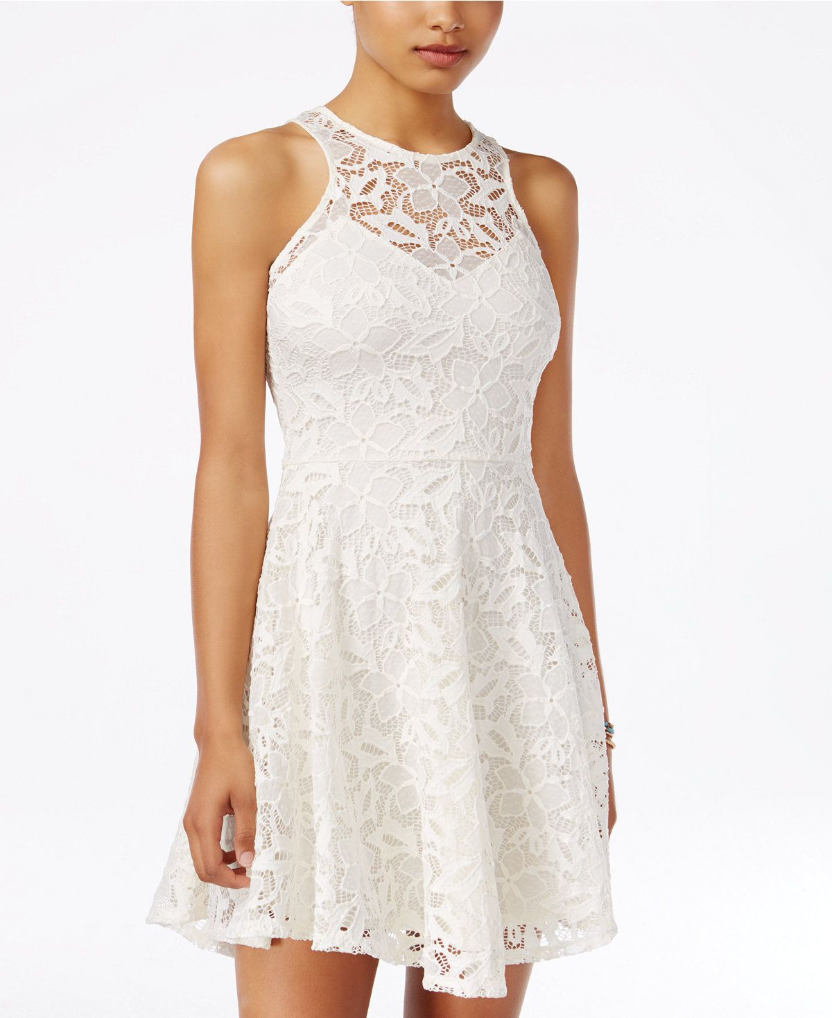 Material Girl Juniors' Lace Skater Dress, Created for Macy's ...