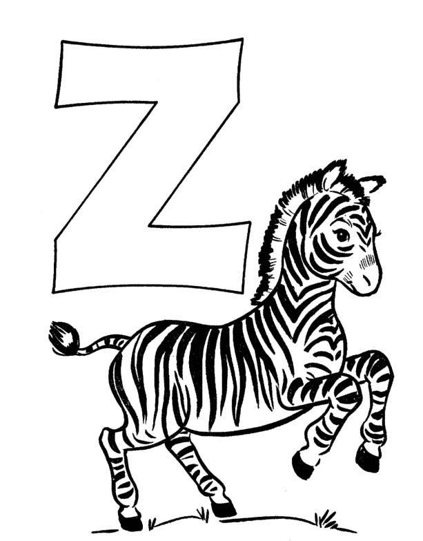 Alphabet Letter Z Coloring Page Zebra Coloring Pages Animal Coloring Pages Abc Coloring