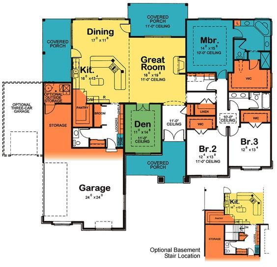 Plan 40893DB: Kitchen With Two Islands