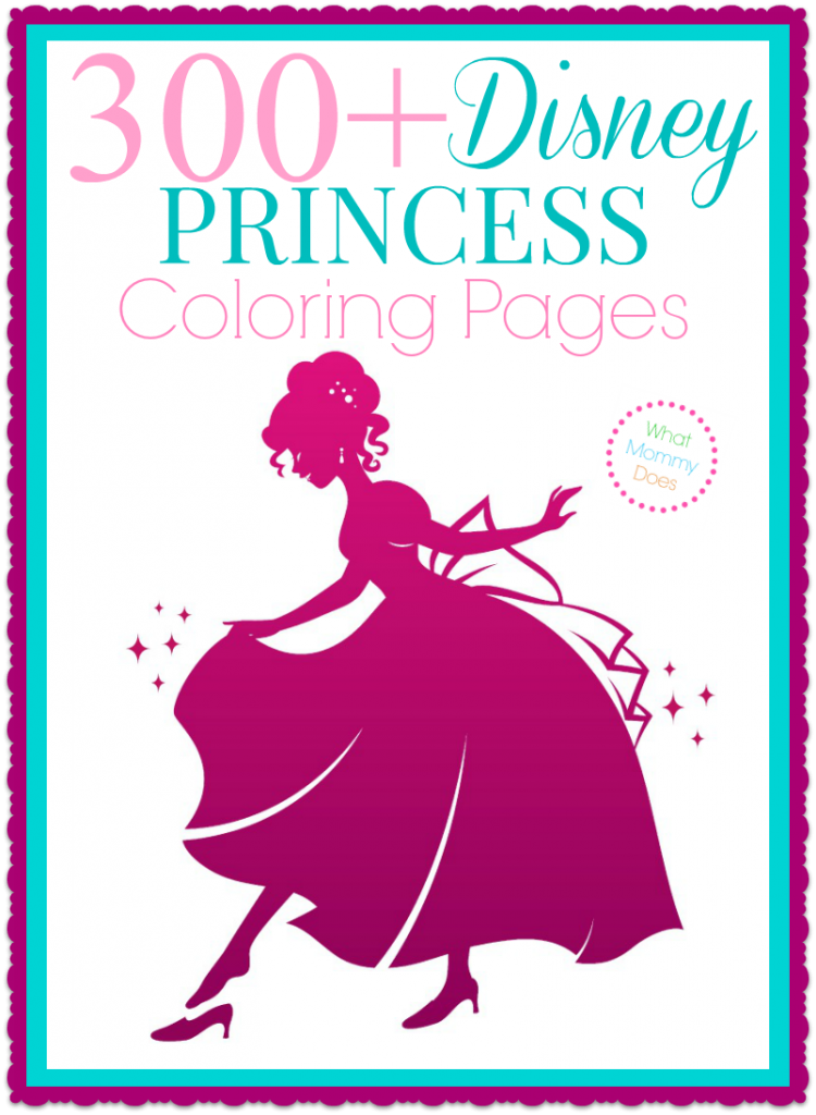 300 Disney Princess Coloring Pages Disney Princess Coloring