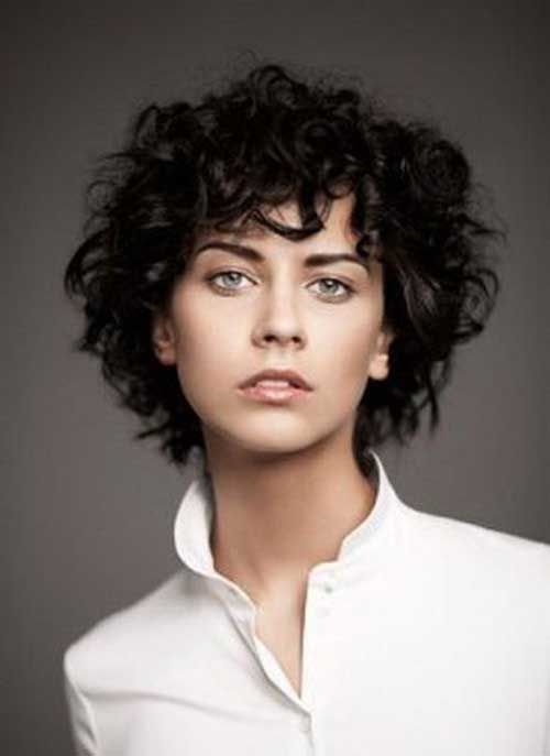 Curly Hairstyles 2015 14Short Curly Haircut 2016 …  Pinteres…