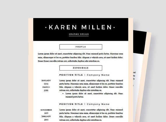 Resume Template Pages Two Page Resume Template Creative Resume - pages resume templates mac