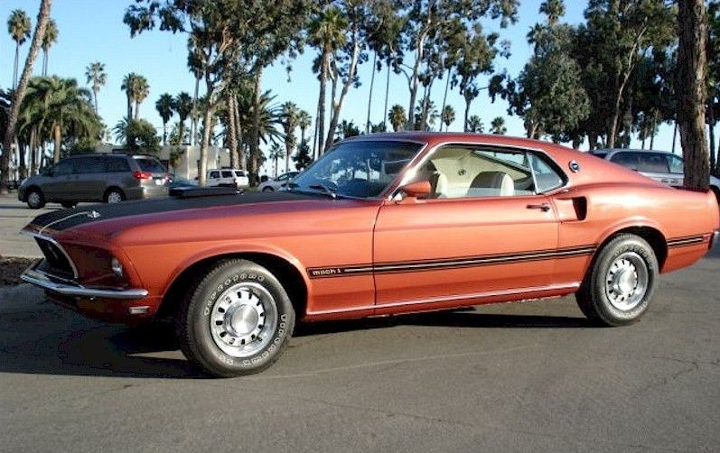 Indian Fire Red 1969 Mach 1 Mustang Fastback Mustang Fastback