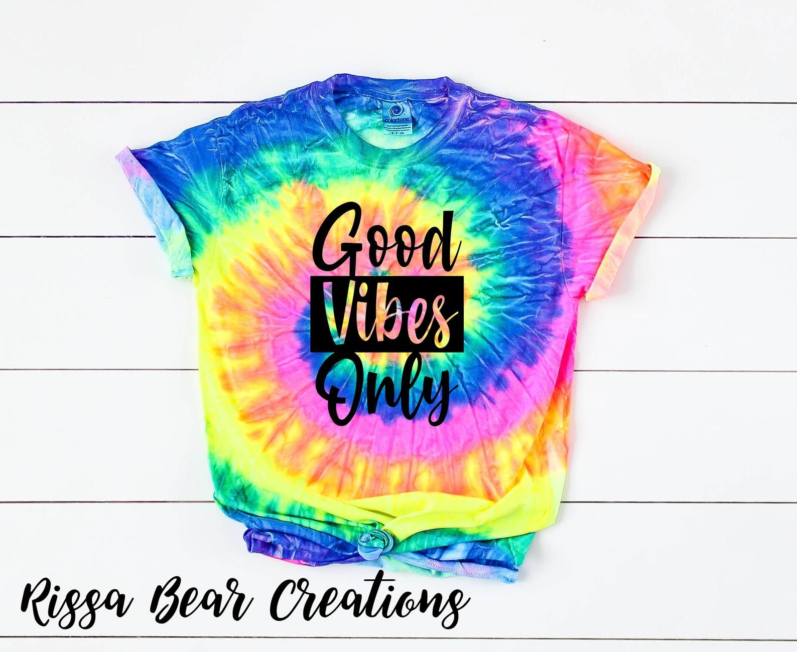 Good Vibes Only Tie Dye Graphic T Shirt Etsy Tie Dye Diy Tye Dye Shirts Babe Shirt [ 1300 x 1588 Pixel ]