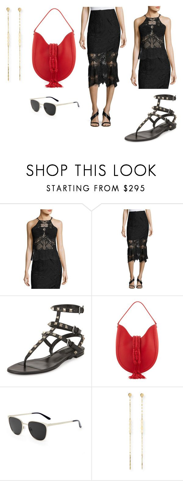 """""""Sin título #9646"""" by ceciliaamuedo ❤ liked on Polyvore featuring Jonathan Simkhai, Valentino, Altuzarra, Smoke x Mirrors and Lana"""