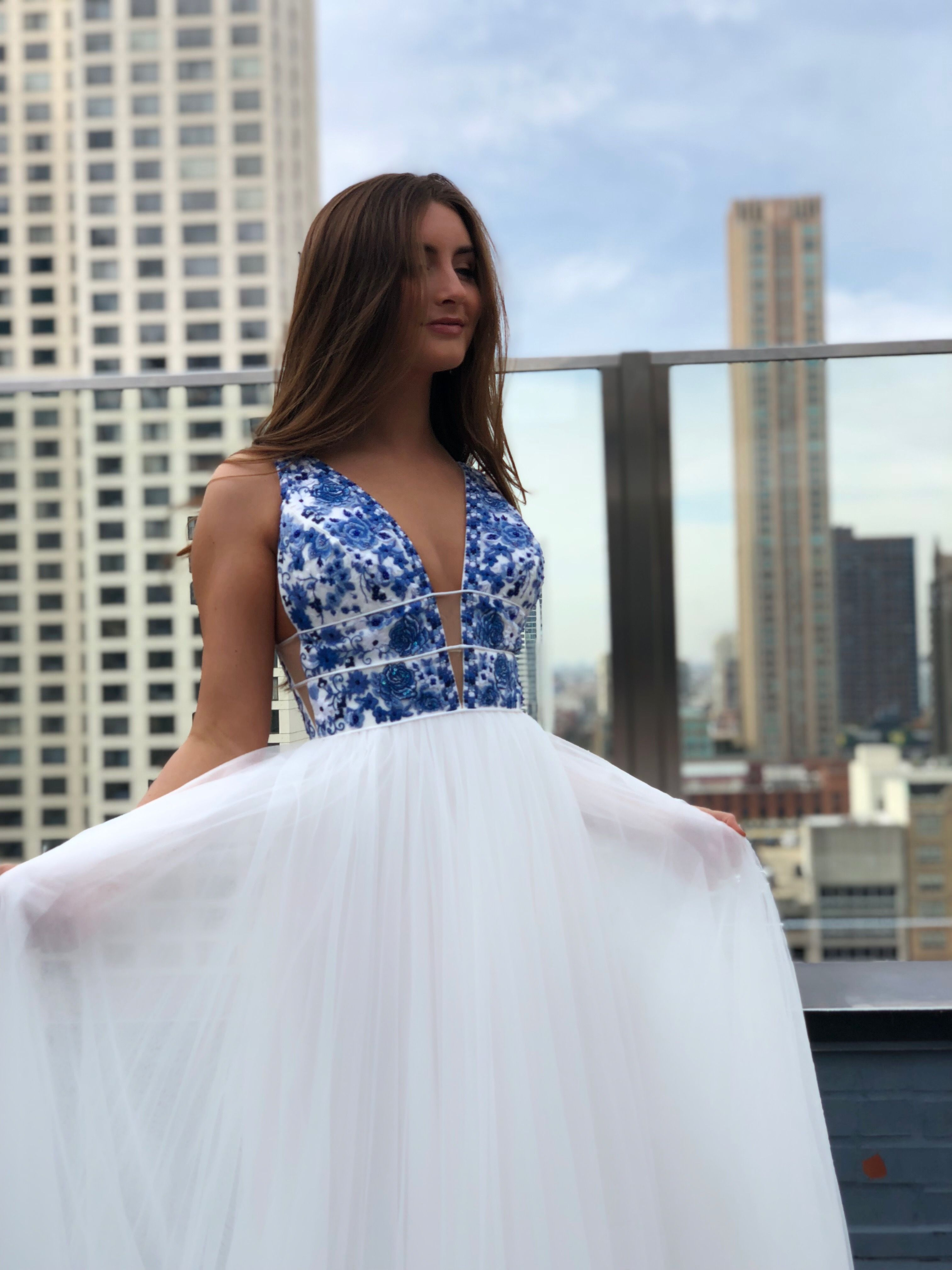 2f20943fbe Carli Parenti is gorgeous and feeling the city vibes in Sherri Hill 52672  in stock now!