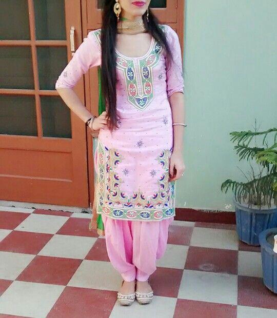 Vao nice punjabi salwar suit .. :) get this suit made and customized ... wanna get this made whatsapp : +917696747289 visit us at   punjabi salwar suit #Suit;