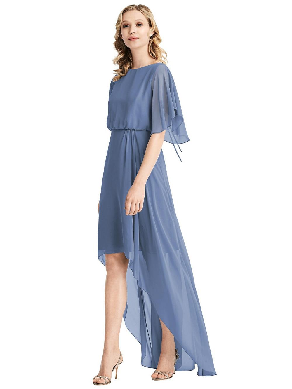 Flutter Sleeve High Low Cocktail Dress Cocktail Dresses With Sleeves High Low Cocktail Dress Long Sleeve Cocktail Dress [ 1333 x 1000 Pixel ]