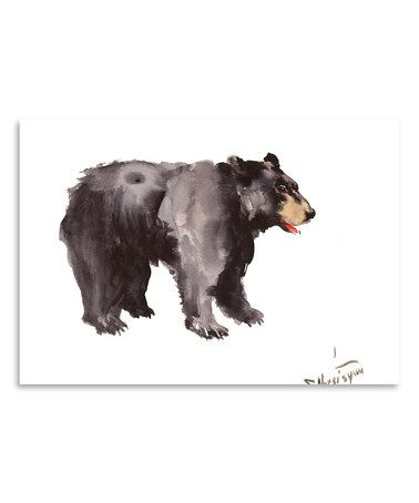 This American Black Bear Wall Art is perfect! #zulilyfinds | Hubby ...
