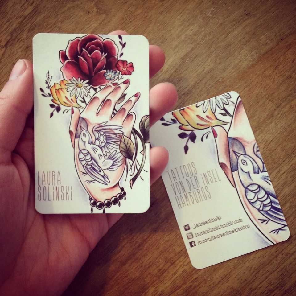 tattoo # businesscard #visitenkarte #laurasolinski #onetattooplease ...