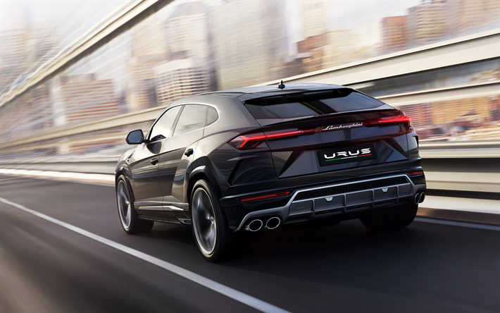 Download wallpapers Lamborghini Urus, 2019, rear view