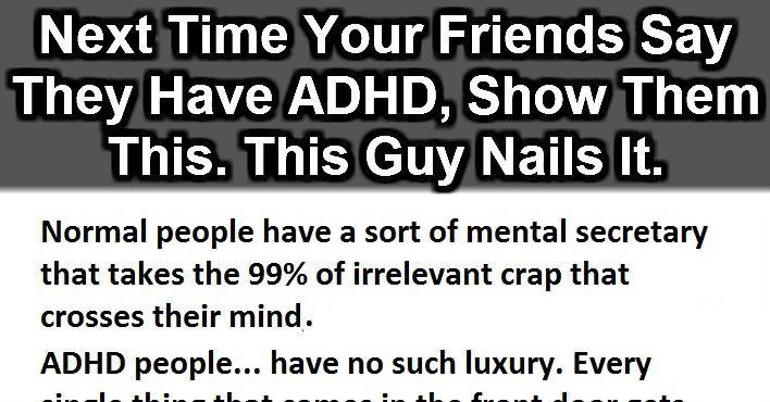If Your Friends Ever Say They Have ADHD, Just Show Them This