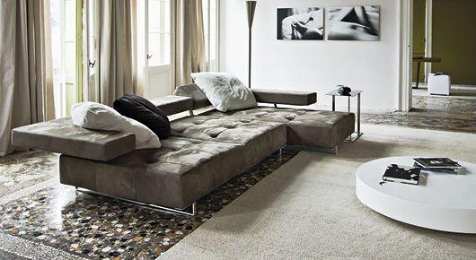 Sofá de esquina / moderno / de interior - LOFT by Adriano Piazzesi ...