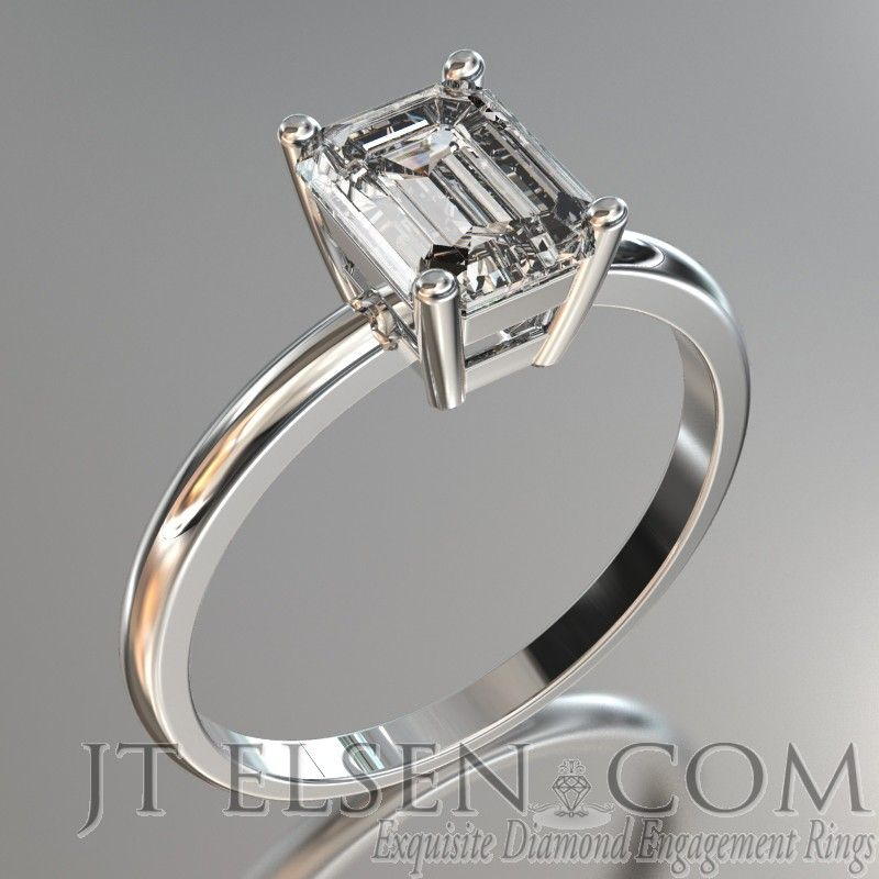 Style S1093 Clic Solitaire Diamond Engagement Ring This