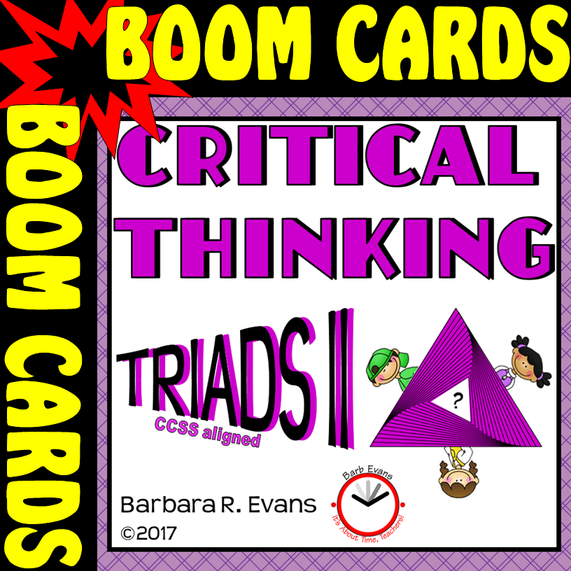 Digital task cards that promote critical thinkinig and