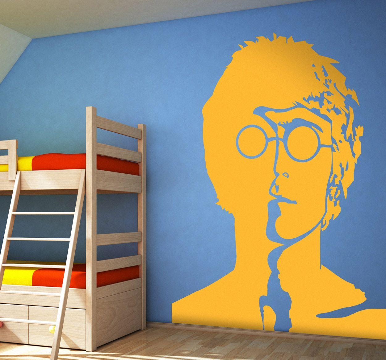 Decorative portrait sticker of the famous singer of The Beatles ...
