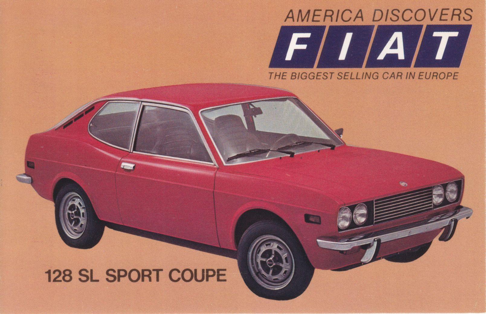 Fiat 128 Sl Sport Coupe Usa 7510 3 1973 Autos Fiat Autos