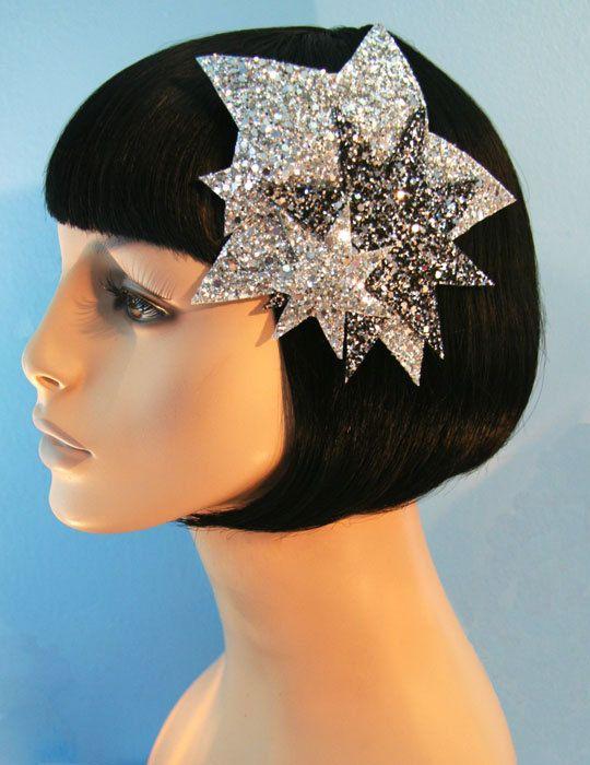 Bright Stars Glitter Fascinator Accessory by by CutieDynamite ... e3e46ac1ae8