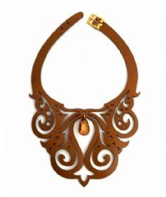 colar de couro feminino - Pesquisa Google