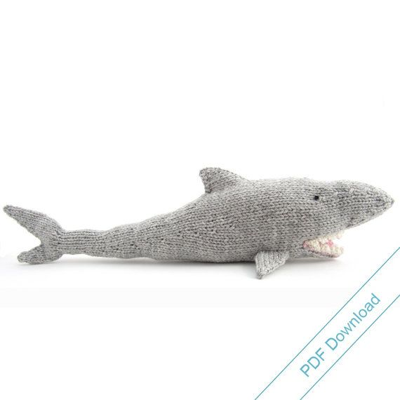 Shark Knitting Pattern. Knit Your Own Jaws. PDF by NattyKnits ...