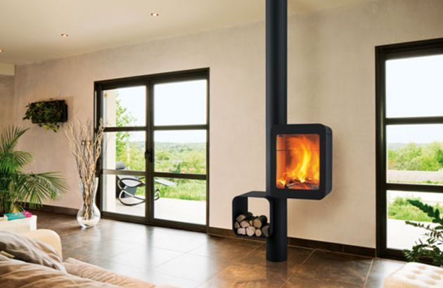 High Performance Contemporary Stove Grappus Poele A Bois