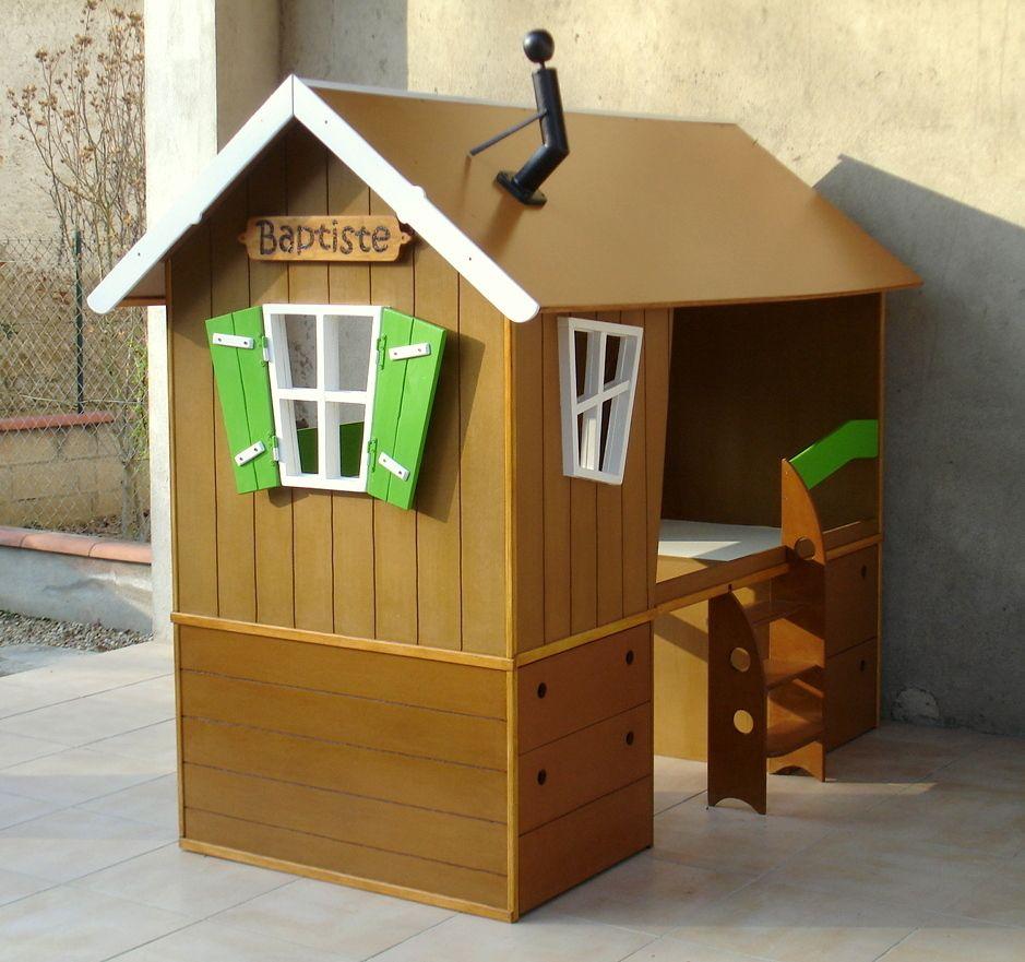 lit cabane pour chambre d 39 enfant lit cabane pinterest. Black Bedroom Furniture Sets. Home Design Ideas