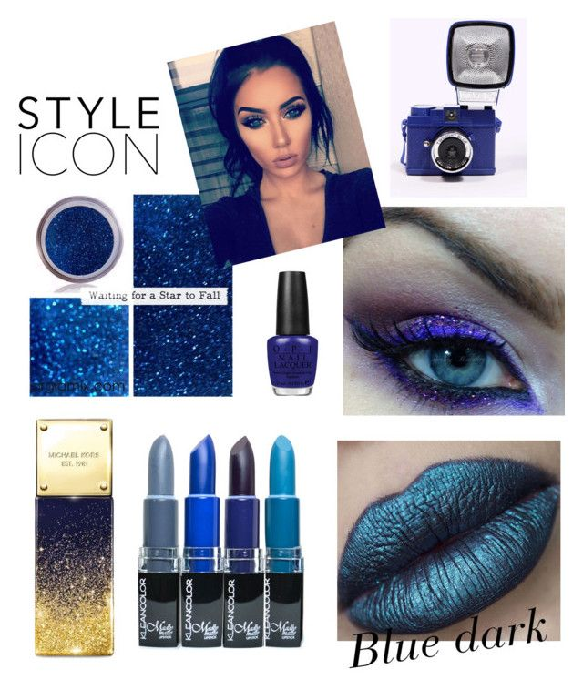 """Blue"" by aurasofia27 ❤ liked on Polyvore featuring beauty, OPI and Michael Kors"