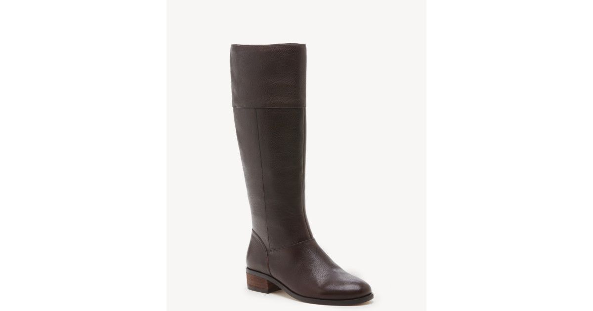 Material: Suede. Heel Height: 1.3. Fit: True to Size. - Women's Carlie Tall Boots Chocolate | Size 5 Suede From Sole Society
