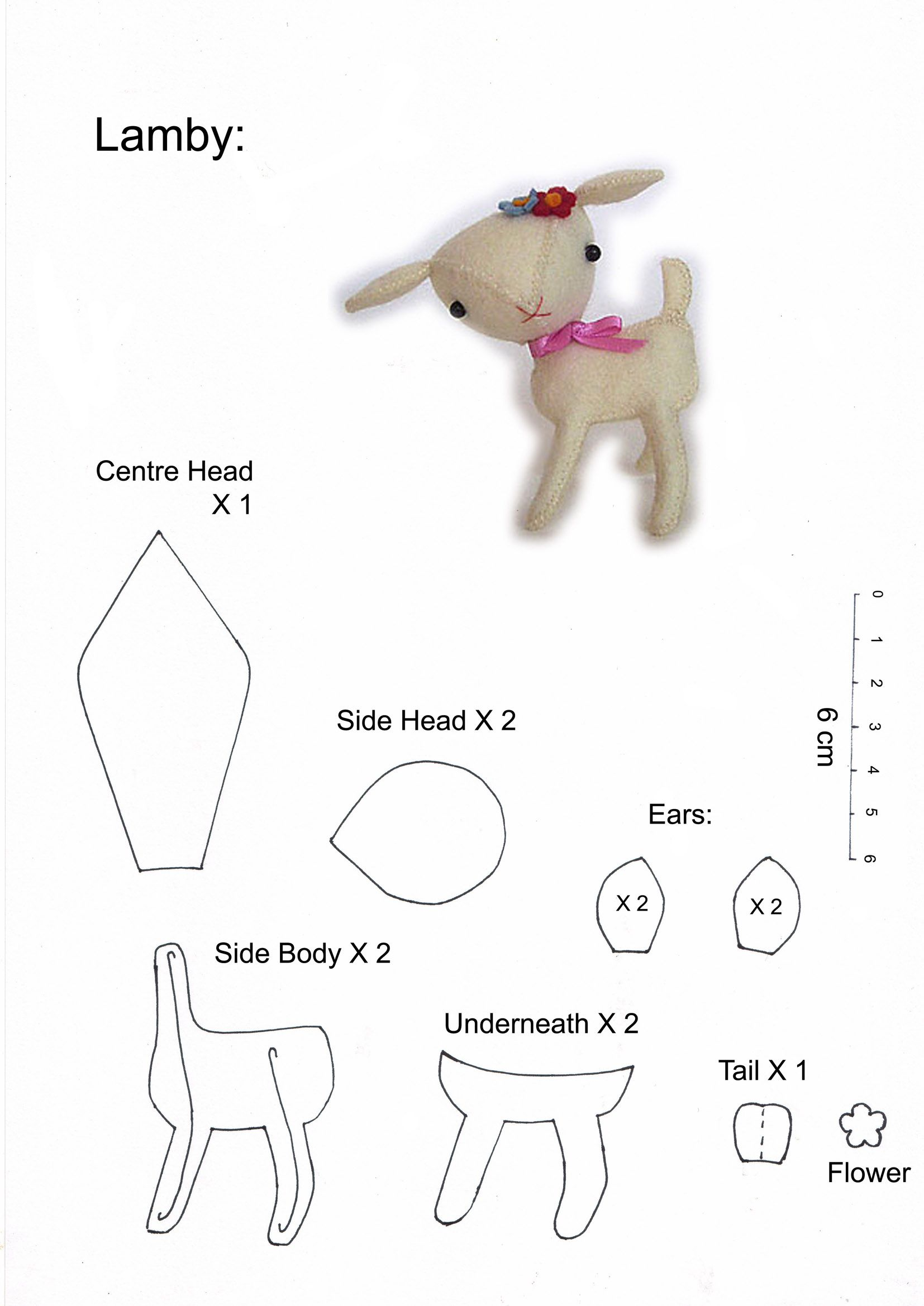 Lamb pattern. Tutorial here ~ http://blythe.burnet.edu.au/toypatterns/lambtut.jpg