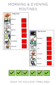 Visual timetable timeline for girls and boys toddler routine charts aid also rh pinterest