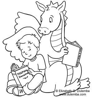 Coloring Page Tuesday Keeping Dragons Coloring Pages School
